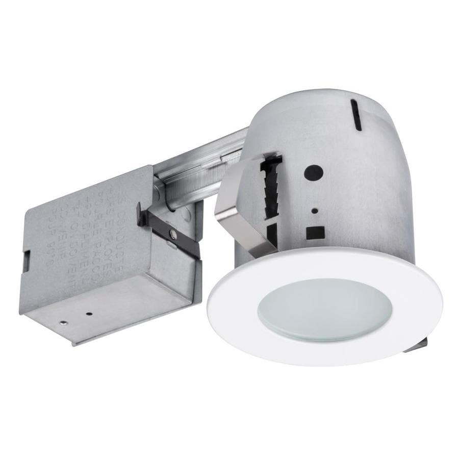 Globe Electric Glossy White Remodel and New Construction Recessed Light Kit (Fits Opening: 4-in)