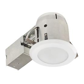86bfccbee3c Globe Electric White Remodel and New Construction Recessed Light Kit (Fits  Opening  5-