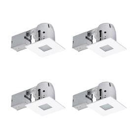 393b0b3ab70 Globe Electric White Remodel and New Construction Recessed Light Kit (Fits  Opening  4-