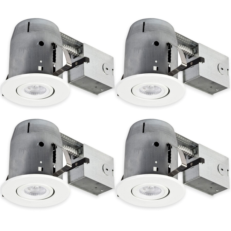 Globe Electric White Remodel and New Construction Recessed Light Kit (Fits Opening: 5-in)
