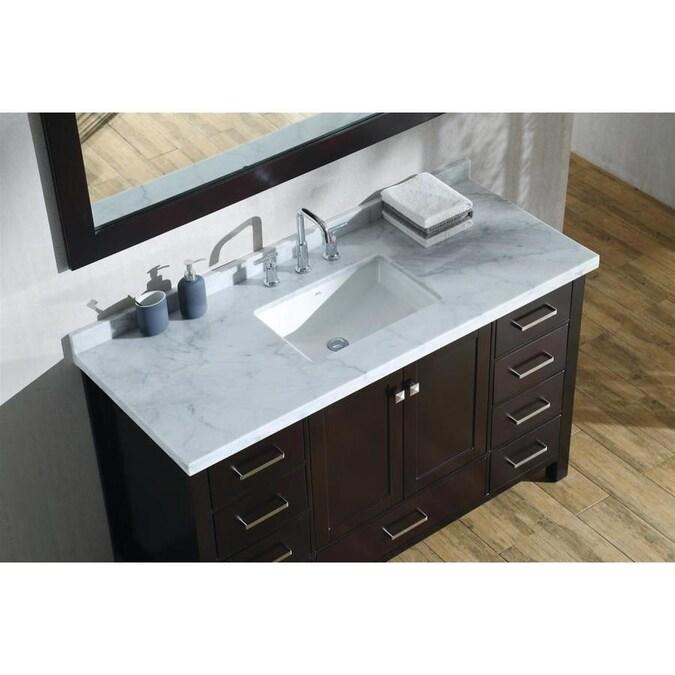 ARIEL Cambridge 55-in Espresso Single Sink Bathroom Vanity ...