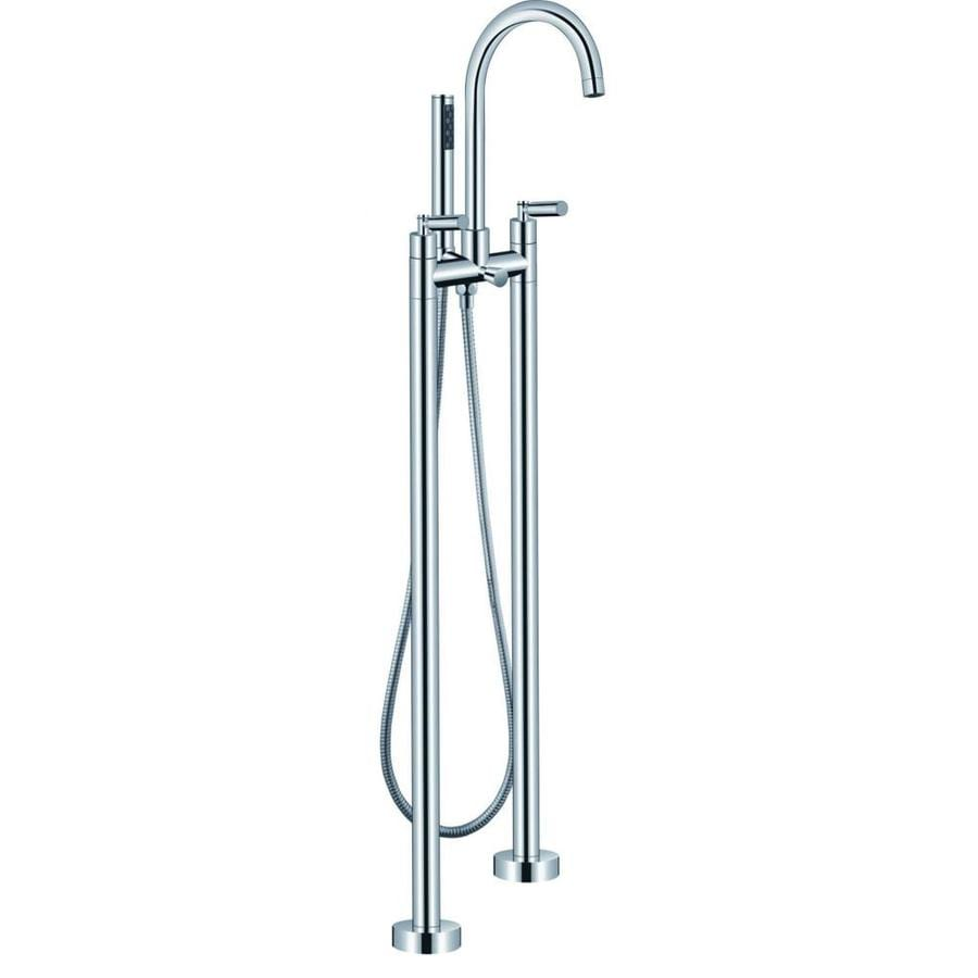 ARIEL Chrome 2-Handle Fixed Freestanding Bathtub Faucet