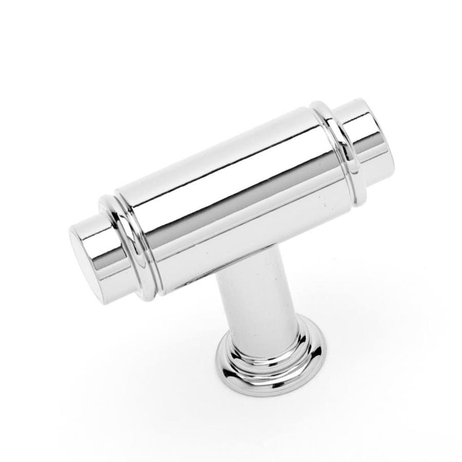 RK International Polished Nickel Rectangular Cabinet Knob