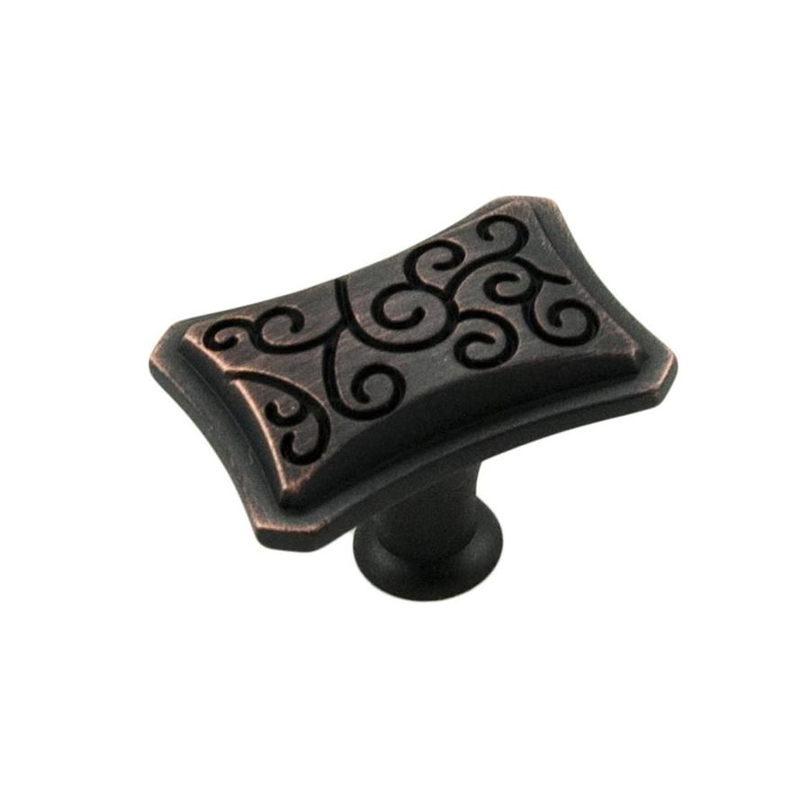 RK International Palermo Valencia Bronze Rectangular Cabinet Knob