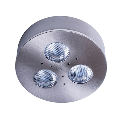 Armacost Lighting Trivue Brushed Steel 4000k 2 75 In Hardwired Puck Light At Lowes Com
