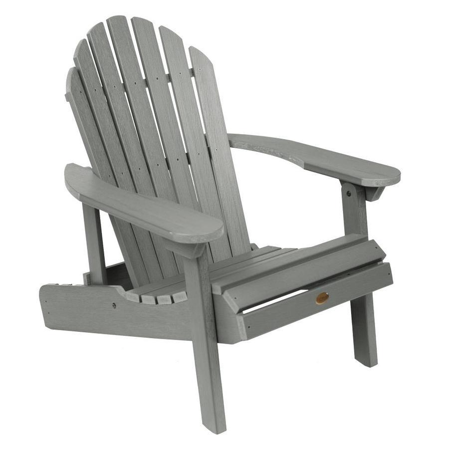 Highwood hamilton coastal teak plastic folding patio adirondack chair
