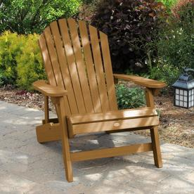 Highwood Hamilton Plastic Stationary Adirondack Chair With Slat Seat