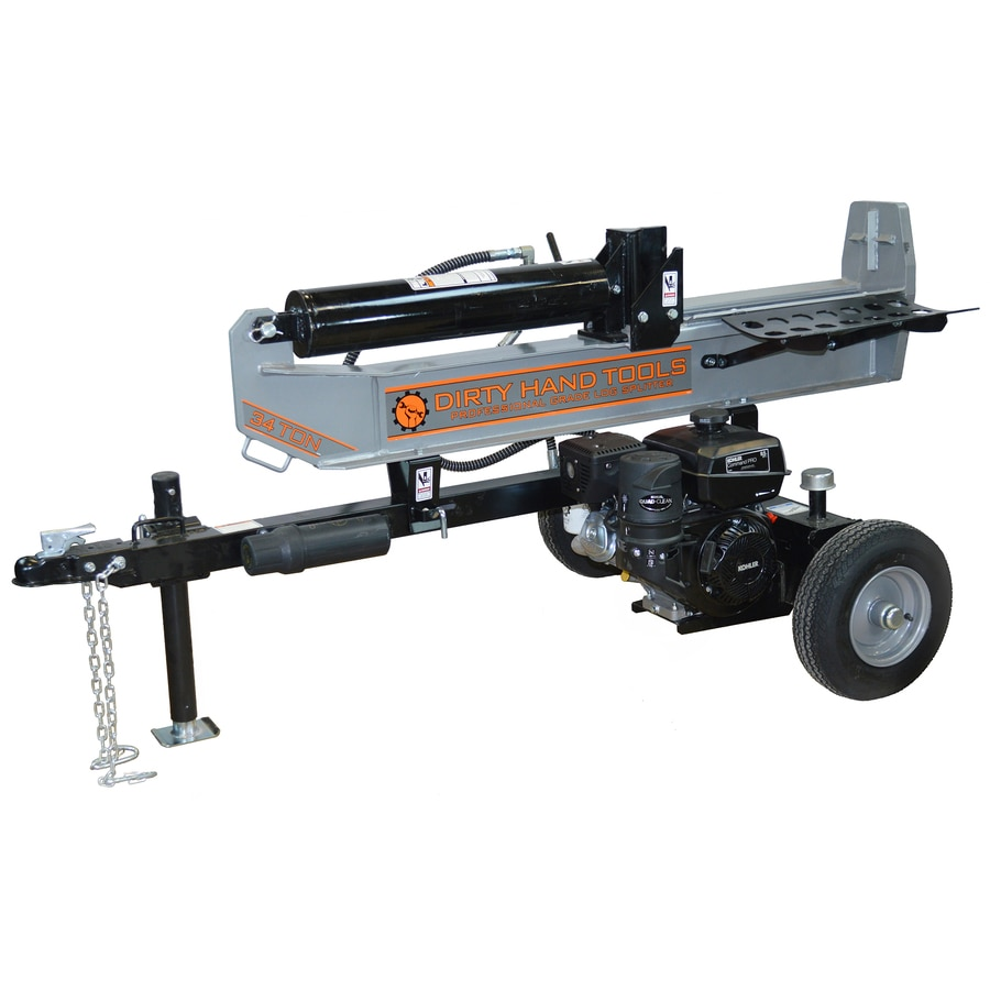 Shop log splitters at lowes dirty hand tools 35 ton gas log splitter sciox Gallery