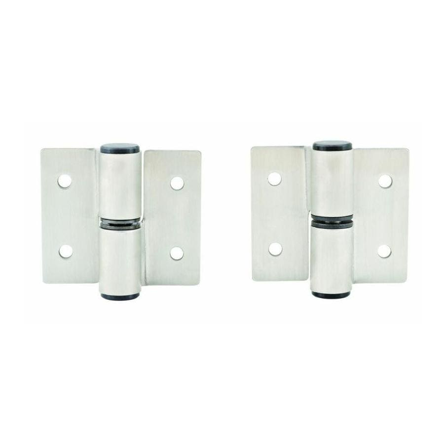 PSISC Satin Stainless Steel Gravity Hinge for Left-Hand In-Swing Door