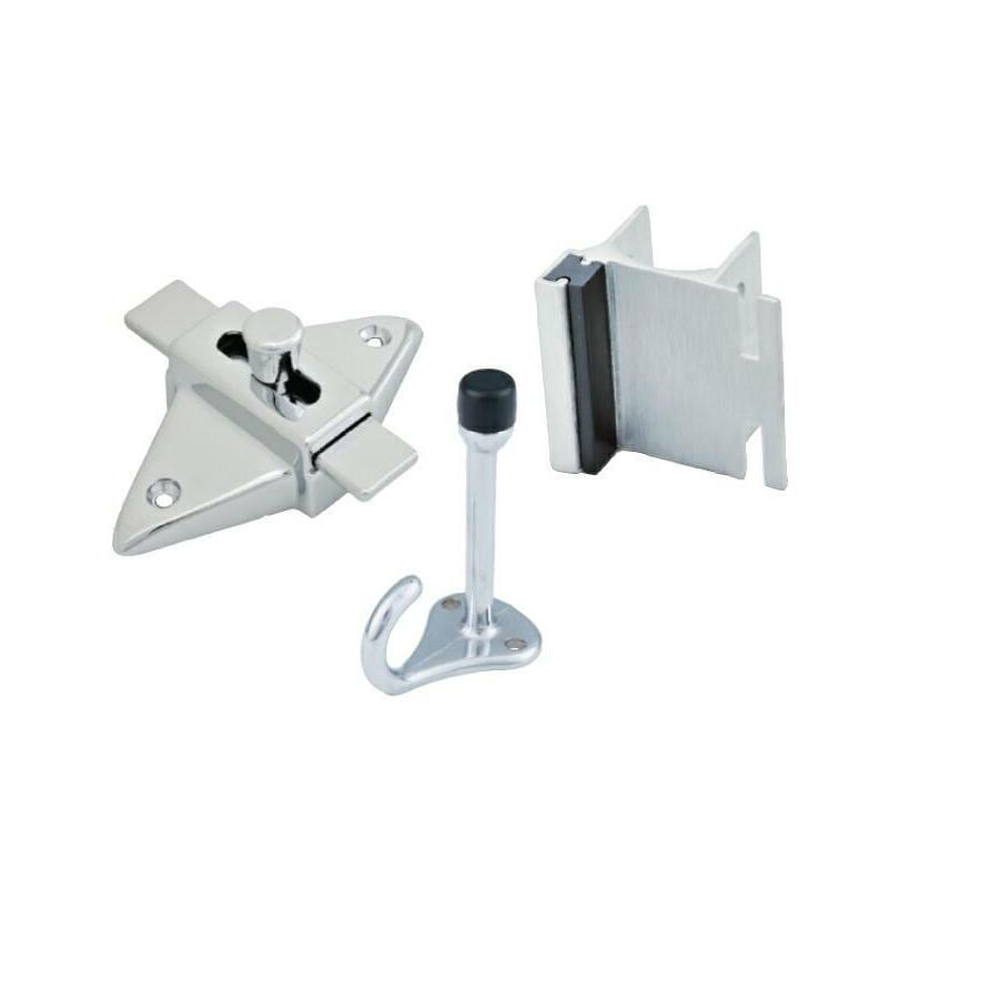 PSISC Chrome In-Swing Latch Set
