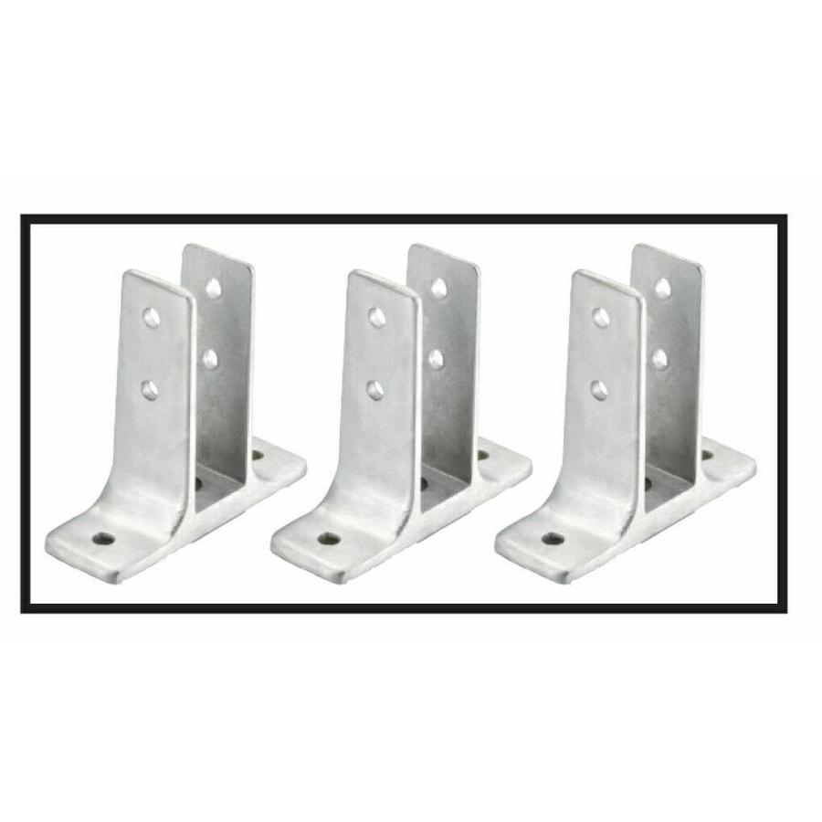PSISC Chrome Urinal Screen Hardware Set