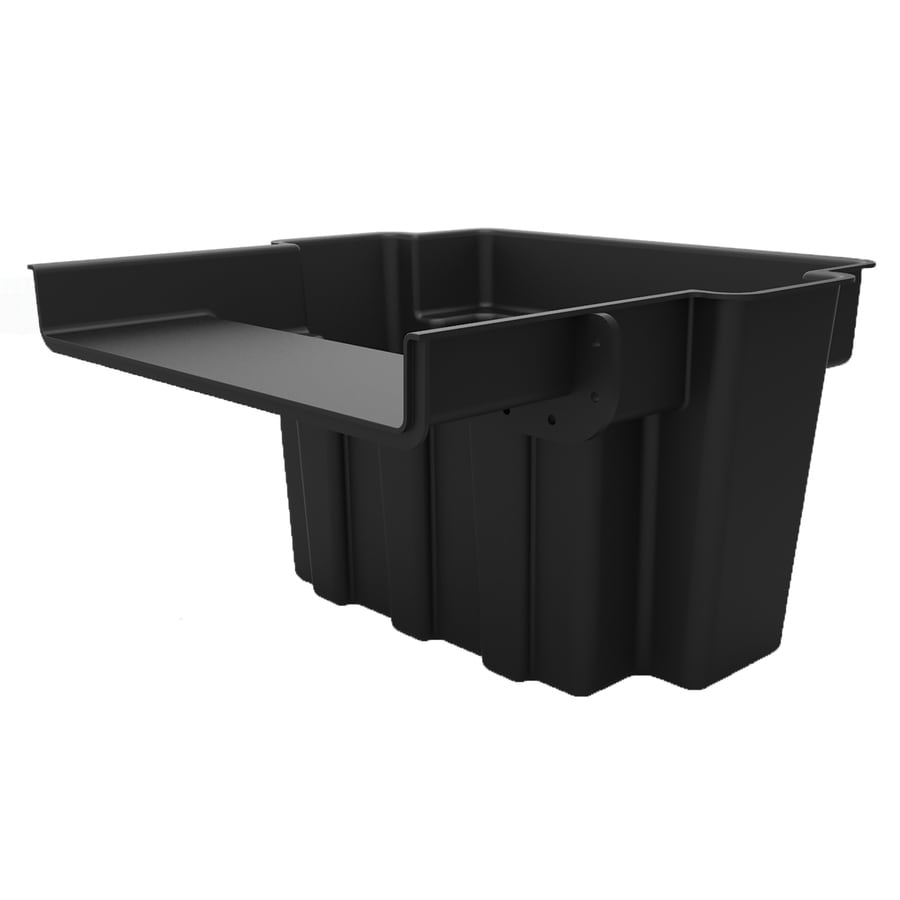 Shop smartpond black pond waterfall box at for Fish pond filter accessories