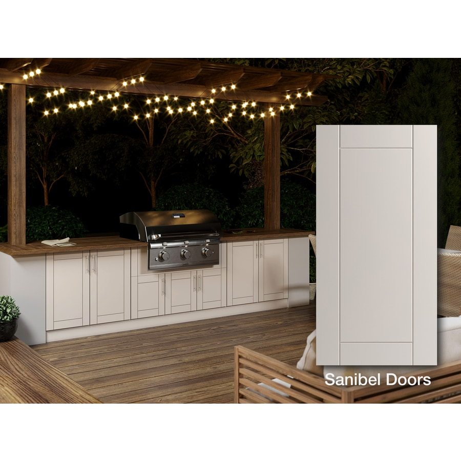 Weatherstrong Outdoor Kitchen Base In The Modular Outdoor Kitchens Department At Lowes Com