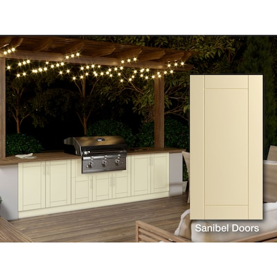 Off-white Shaker Semi-Custom Kitchen Cabinets at Lowes.com