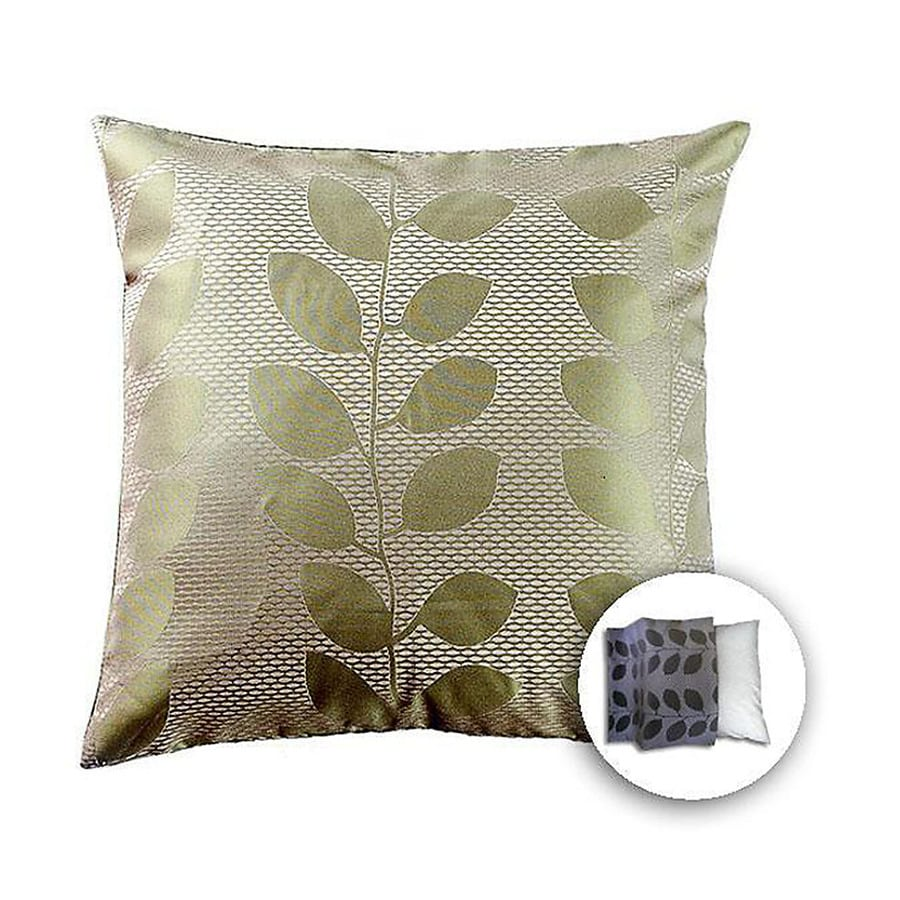 allen + roth 18-in W x 18-in L Green Square Indoor Decorative Pillow Cover