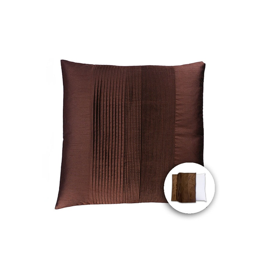 allen + roth 18-in W x 18-in L Brown Square Indoor Decorative Pillow Cover