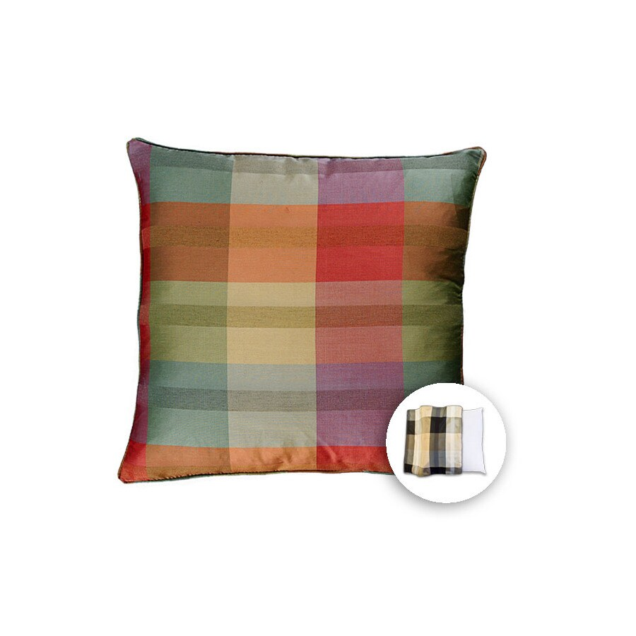 allen + roth 18-in W x 18-in L Spa Terracotta Square Accent Pillow Cover