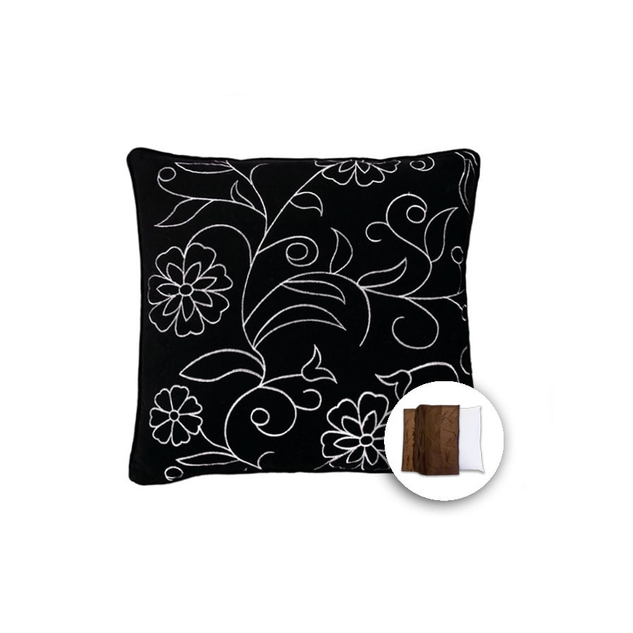 18-in W x 18-in L Ebony Square Indoor Decorative Pillow Cover