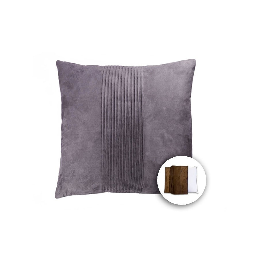 18-in W x 18-in L Grey Square Indoor Decorative Pillow Cover