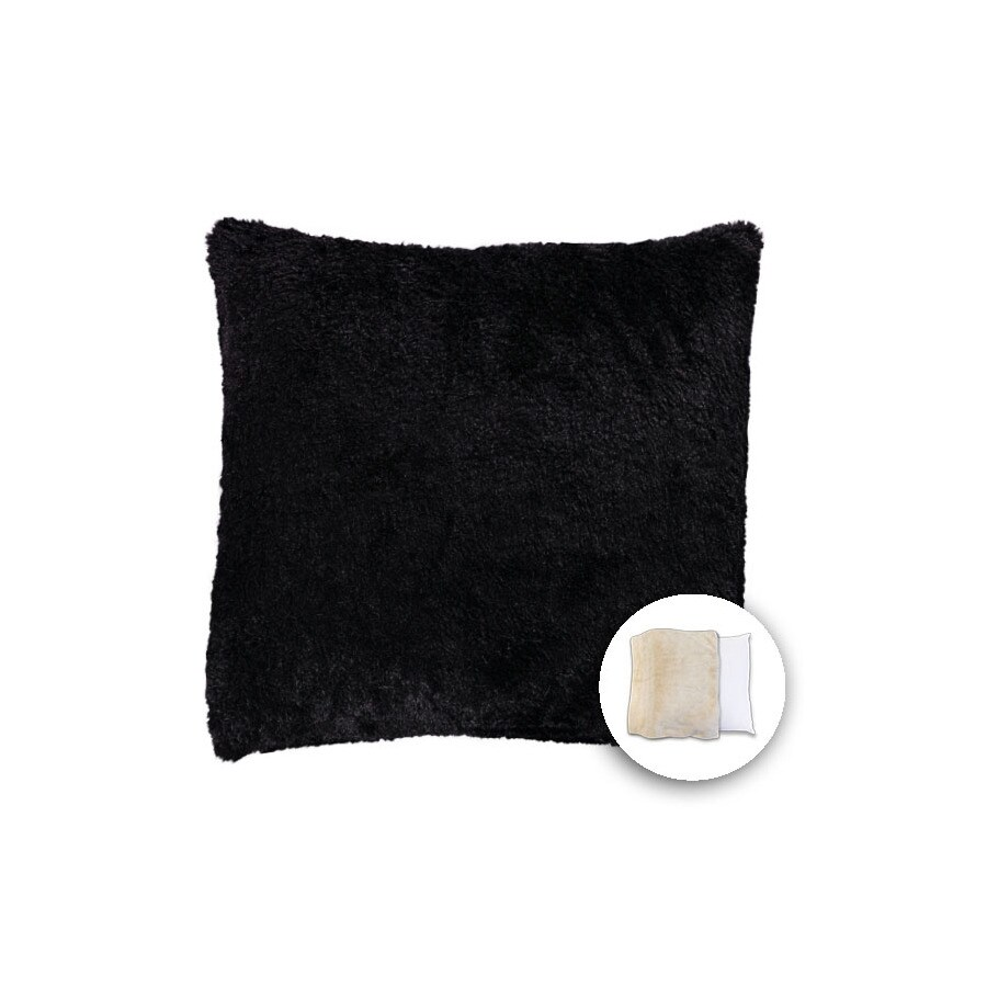 18-in W x 18-in L Black Square Indoor Decorative Pillow Cover