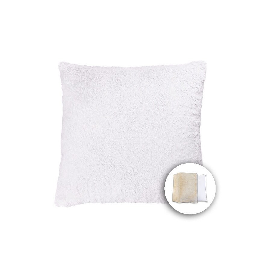 allen + roth 18-in W x 18-in L Ivory Square Indoor Decorative Pillow Cover