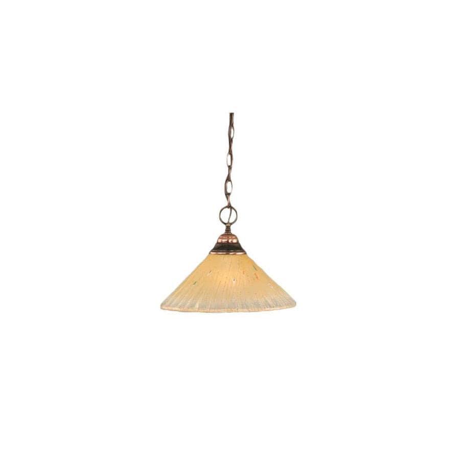 Divina 12-in Black Copper Mini Marbleized Glass Pendant