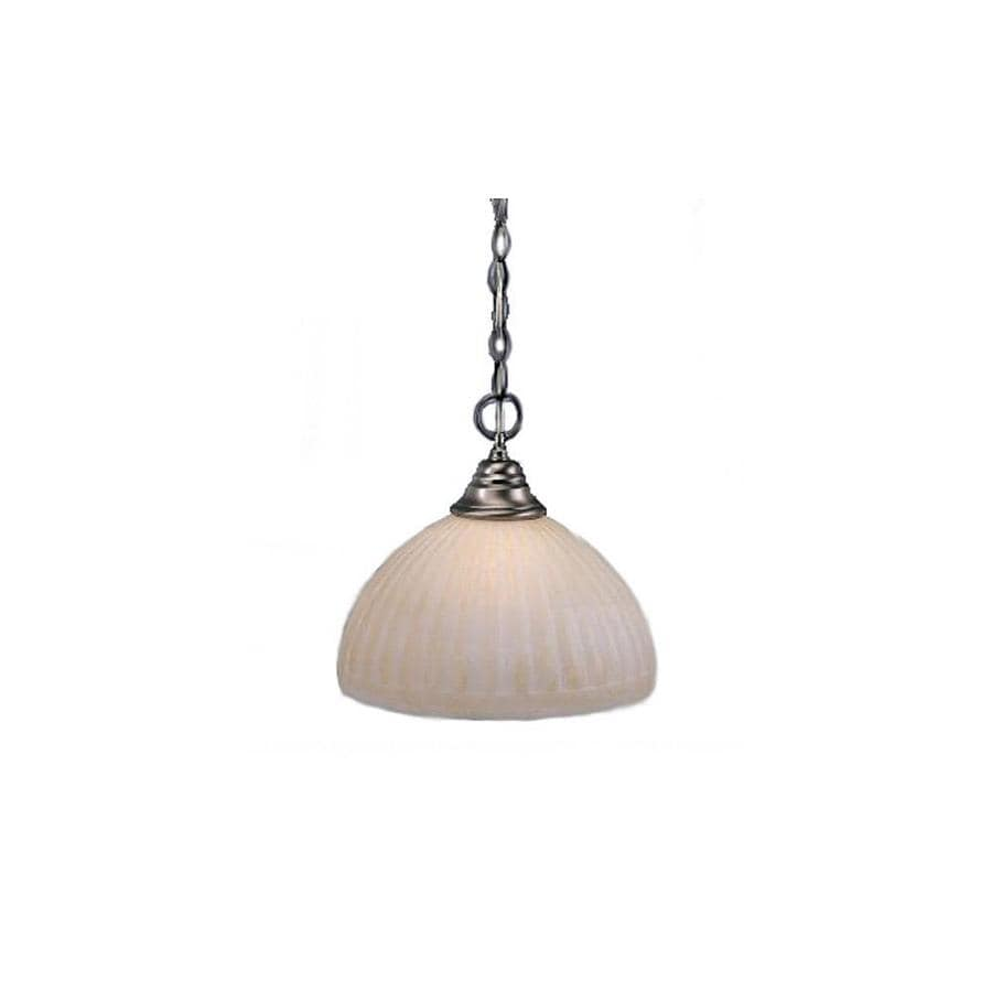 Divina 12-in Brushed Nickel Single Tinted Glass Pendant