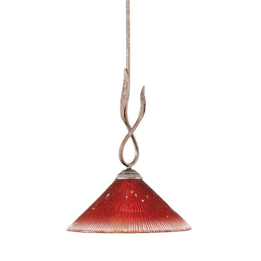 Brooster 10-in Bronze Mini Crystal Pendant