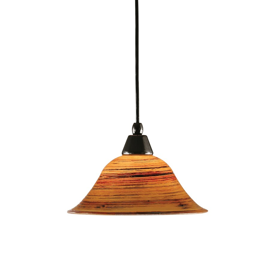 Brooster 10-in Black Copper Mini Tinted Glass Pendant