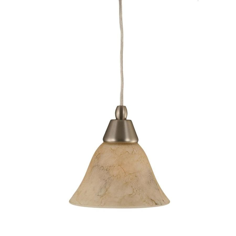 Divina 7-in Brushed Nickel Mini Tinted Glass Pendant
