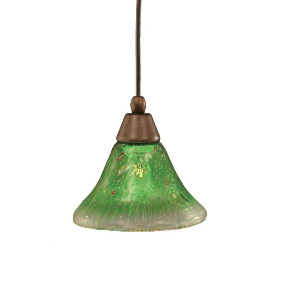 Divina 7-in Bronze Mini Marbleized Glass Pendant