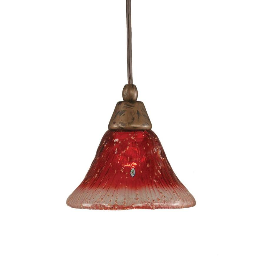 Divina 7-in Bronze Mini Marbleized Glass Pendant