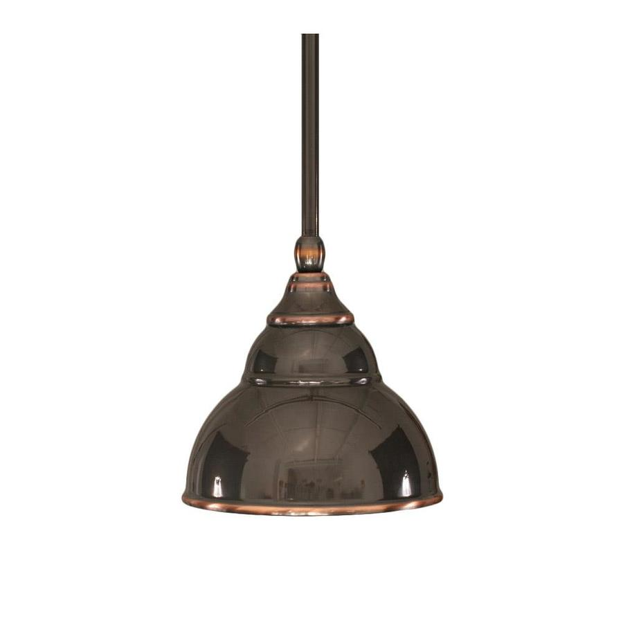 Divina 7-in Black Copper Mini Pendant