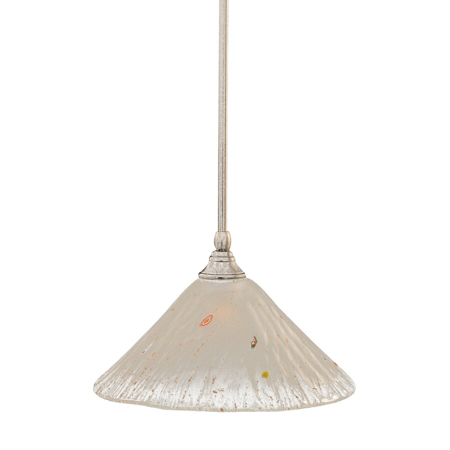 Brooster 12-in Brushed Nickel Single Crystal Pendant