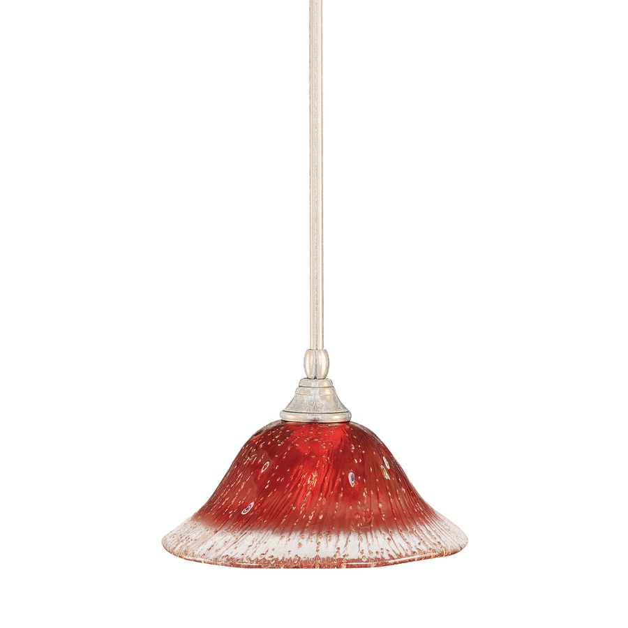 Brooster 10-in Brushed Nickel Mini Crystal Pendant