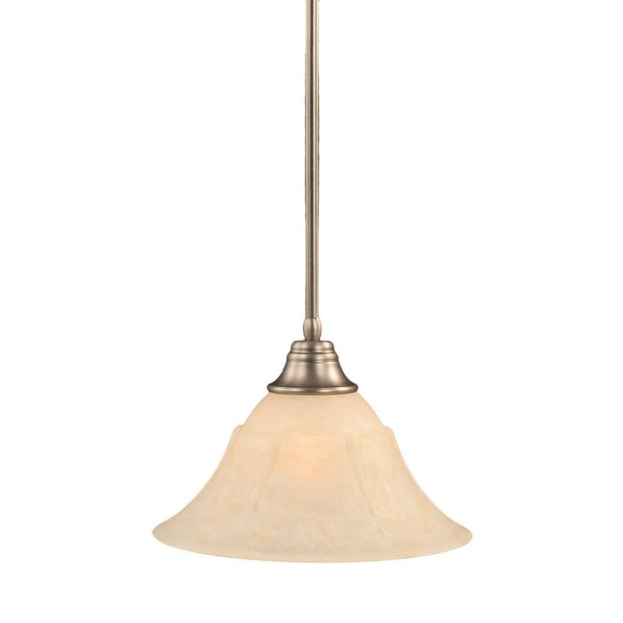 Divina 14-in Brushed Nickel Mini Tinted Glass Pendant