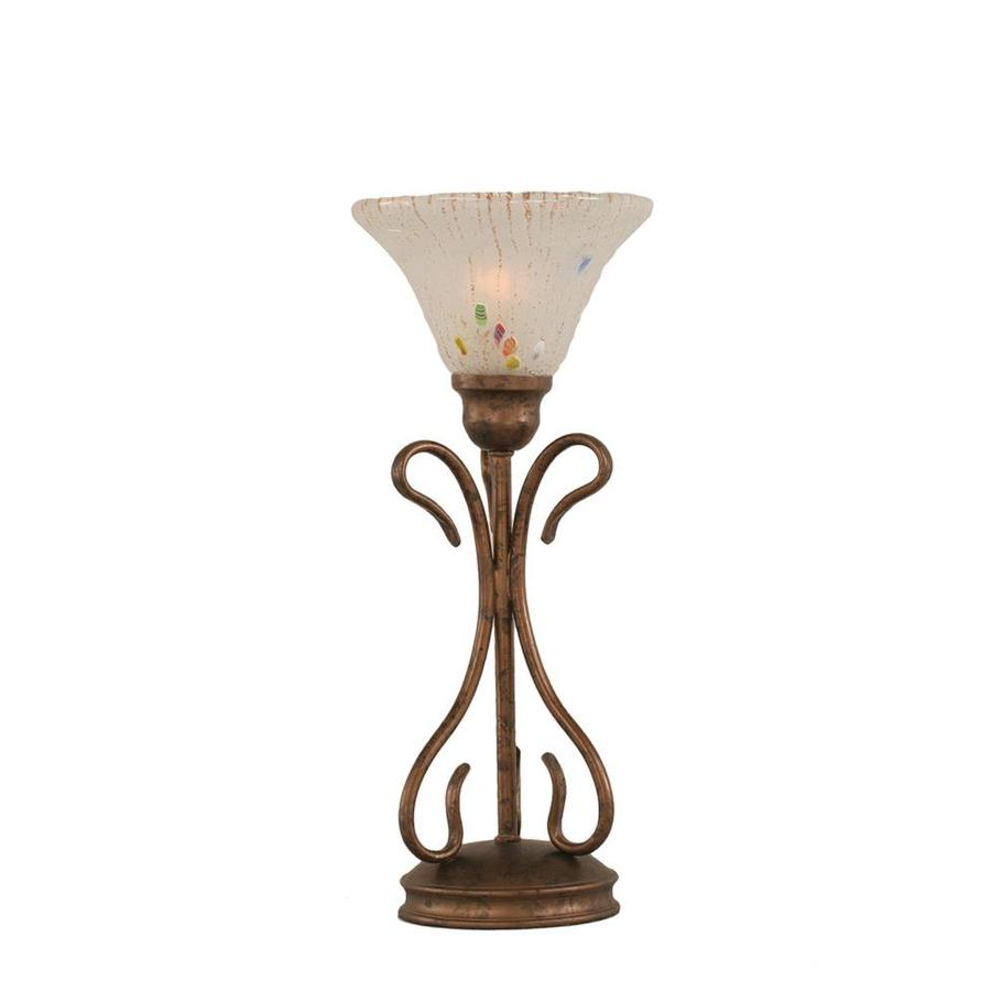 16.75-in Bronze Electrical Outlet 3-Way Switch Table Lamp with Crystal Shade