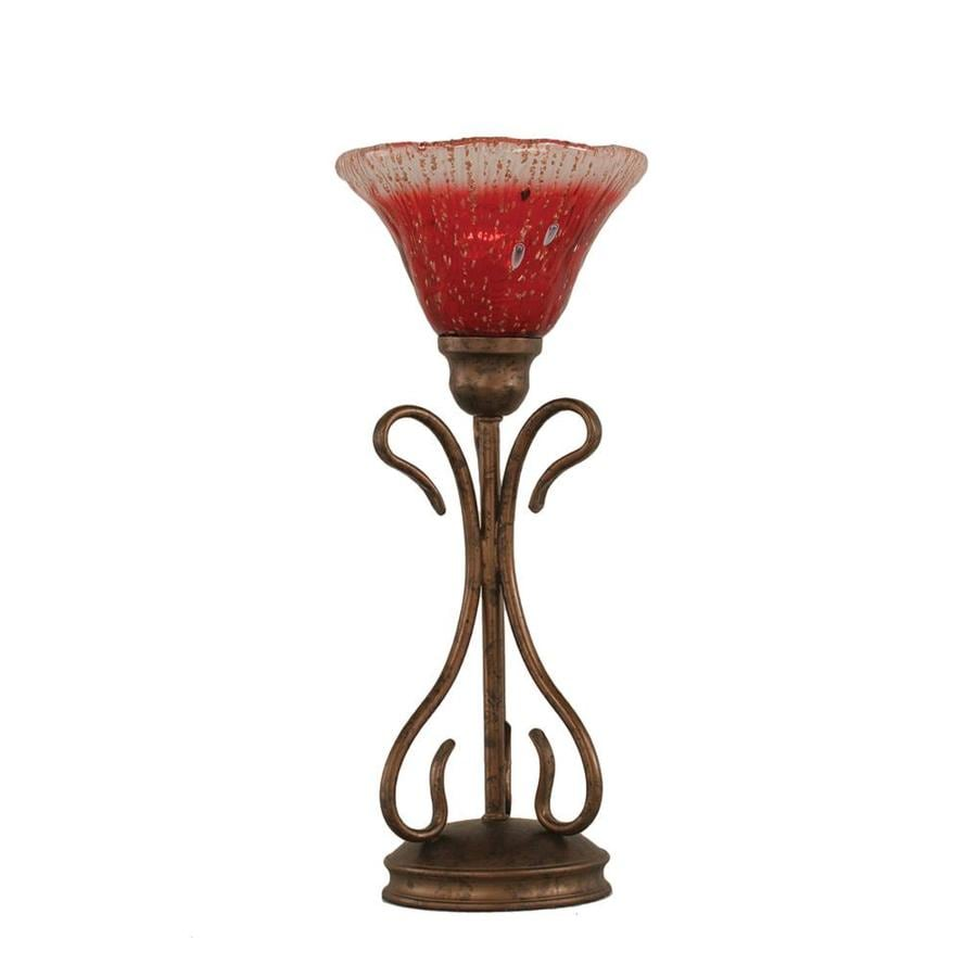 Shop 1675 In Bronze Electrical Outlet 3 Way Switch Table Lamp With Three To Crystal Shade