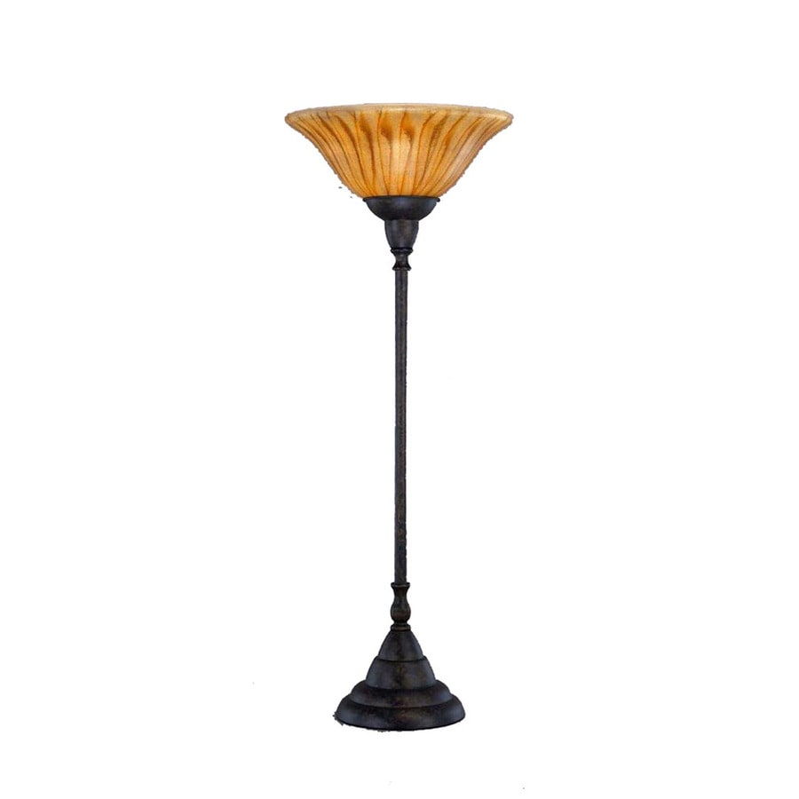 Divina 34.5-in 3-Way Bronze Indoor Table Lamp with Glass Shade