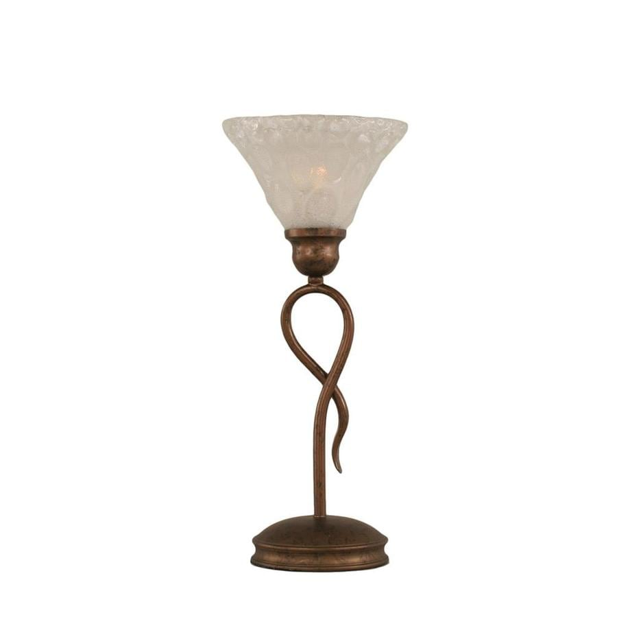 13.25-in Bronze Touch Indoor Table Lamp with Glass Shade