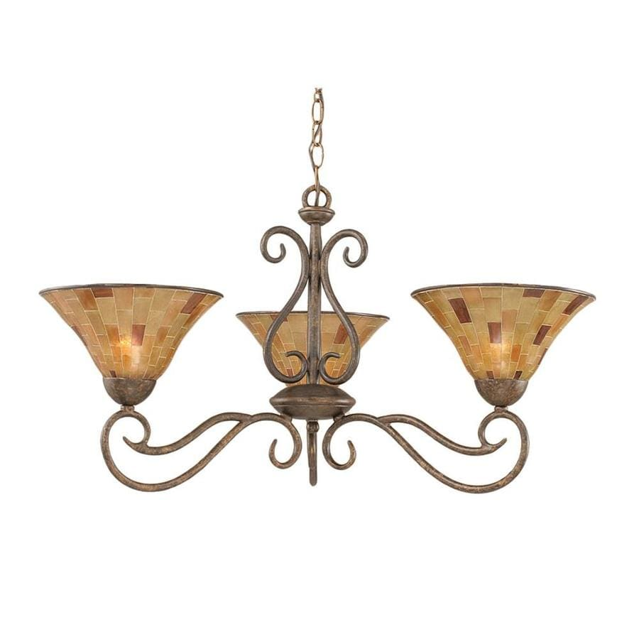 Divina 30.5-in 3-Light Bronze Candle Chandelier