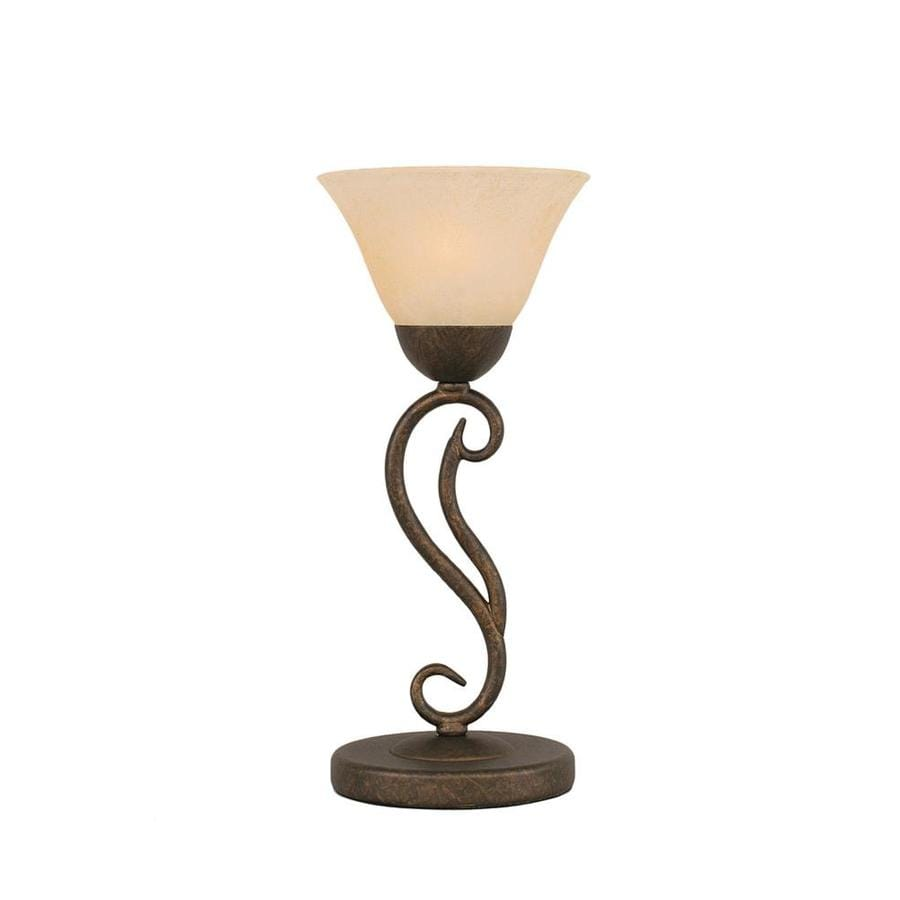 Divina 15.25-in 3-Way Bronze Indoor Table Lamp with Glass Shade