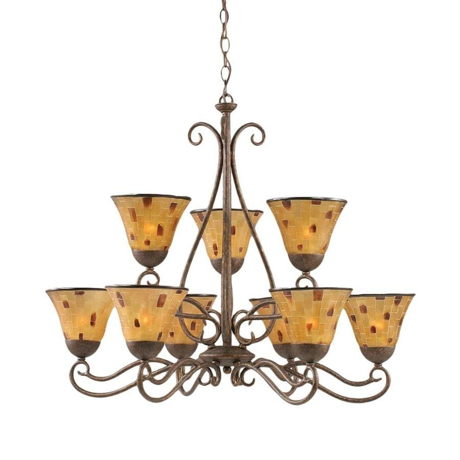 Divina 29-in 9-Light Bronze Tiered Chandelier