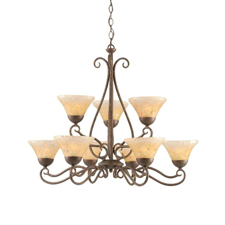 Shop Divina 29 In 9 Light Bronze Tinted Glass Tiered