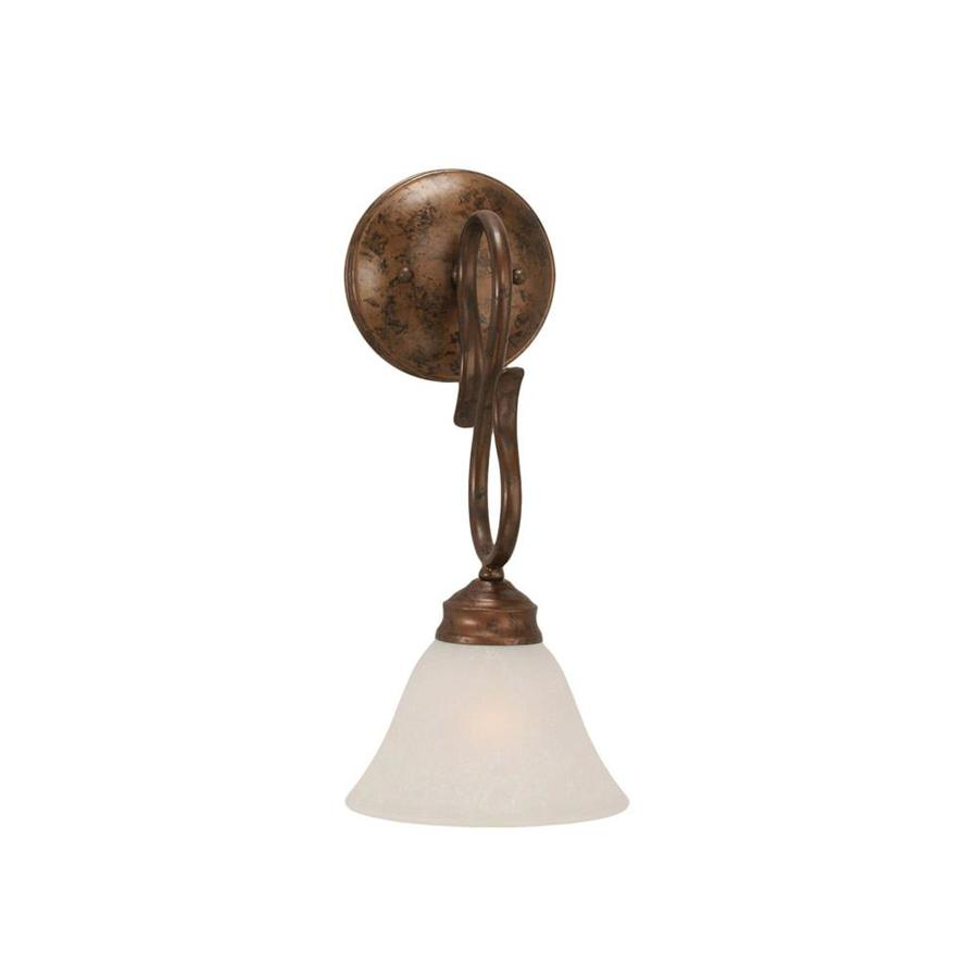 Divina 9-in W 1-Light Bronze Arm Wall Sconce