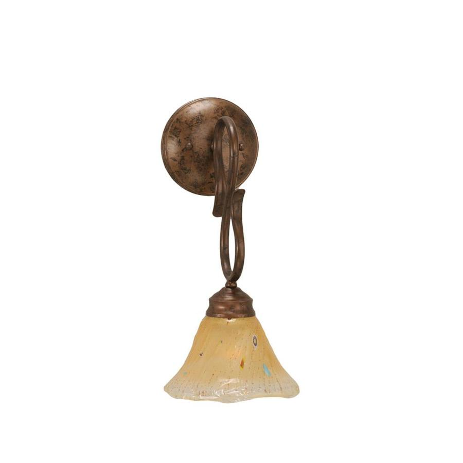 Divina 7-in W 1-Light Bronze Arm Hardwired Wall Sconce