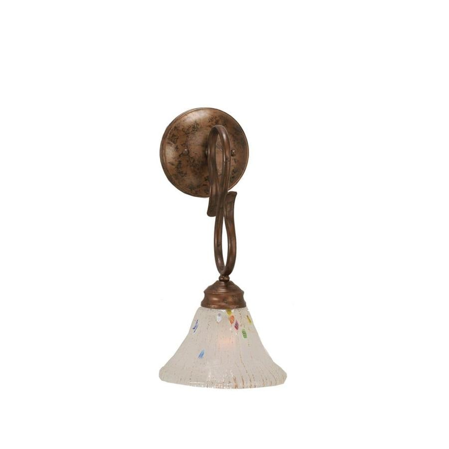 Wall Sconces Location : Shop Divina 7-in W 1-Light Bronze Arm Wall Sconce at Lowes.com
