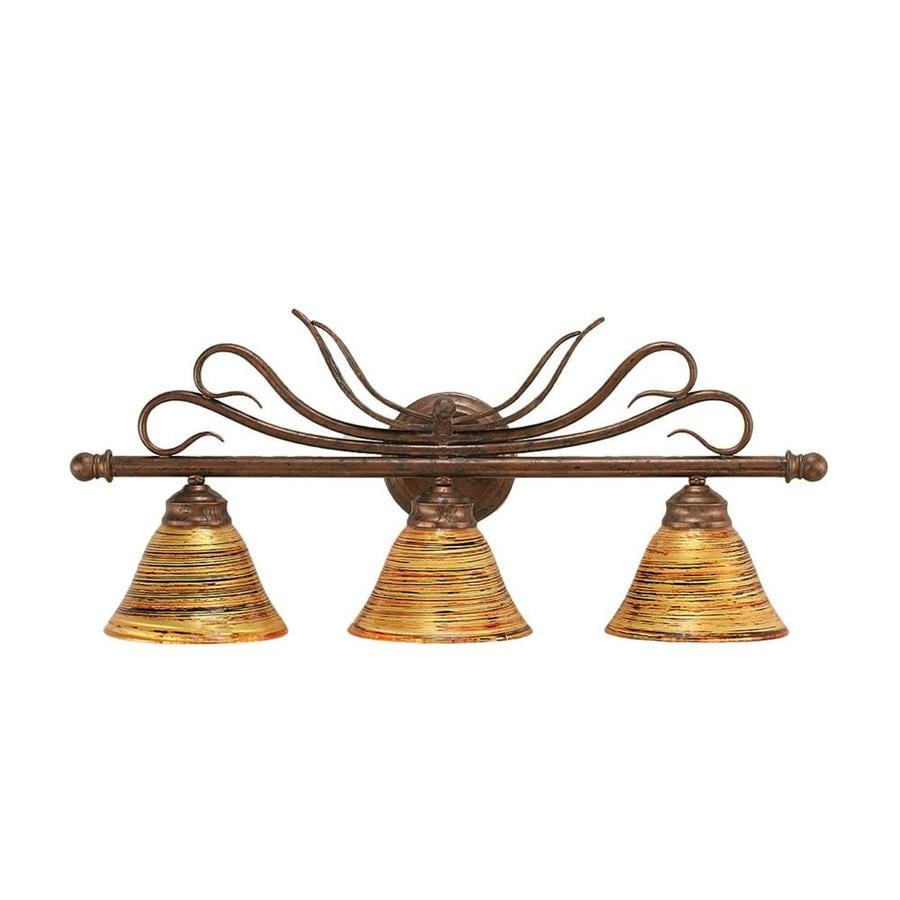Divina 3-Light 11.5-in Bronze Vanity Light