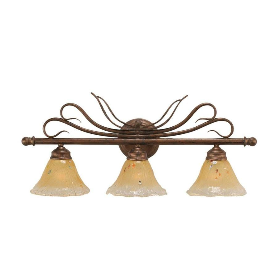 Divina 3-Light 11.25-in Bronze Vanity Light