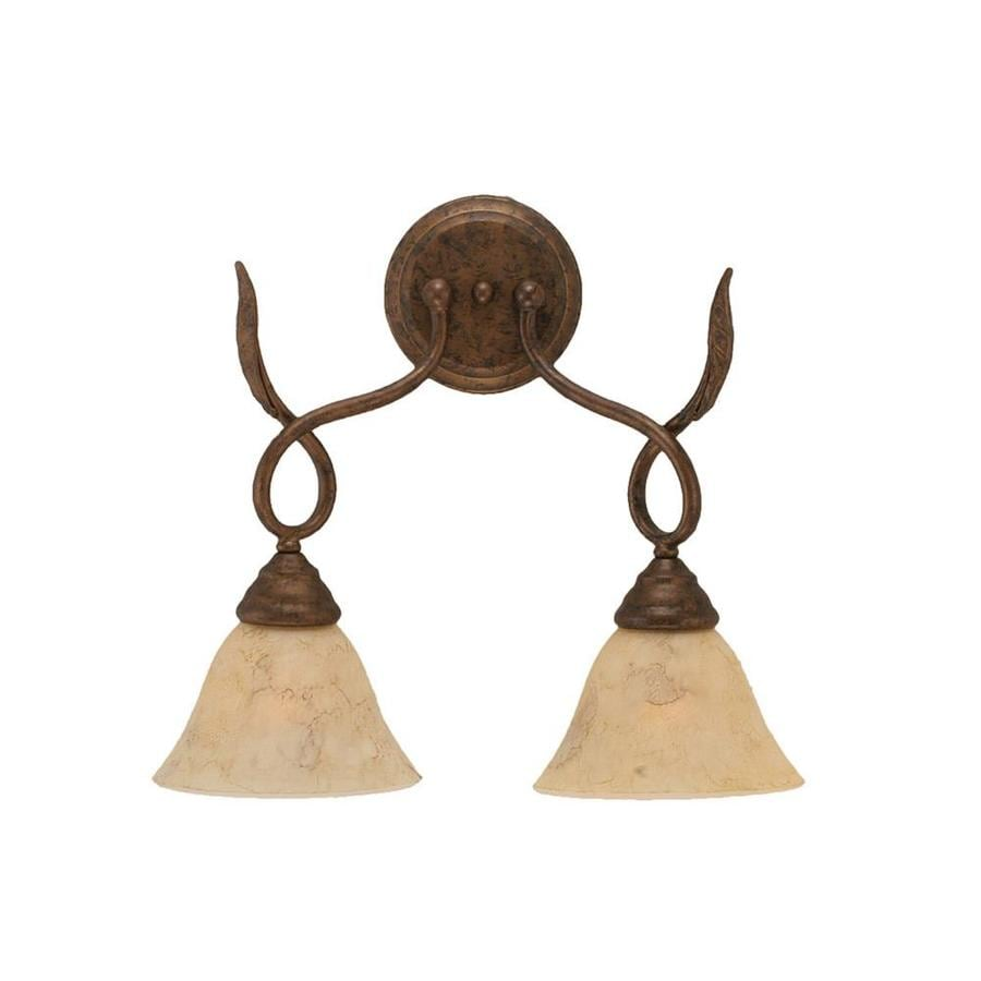 Divina 7.5-in W 2-Light Bronze Arm Wall Sconce